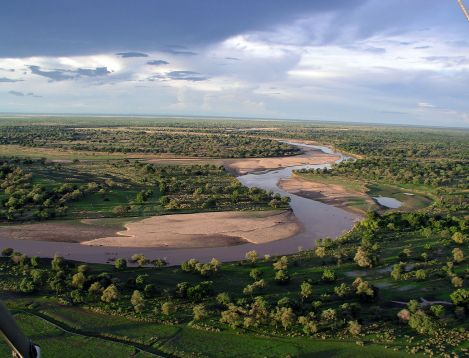 ZA-Tafika- LUANGWA RIVER FROM THE AIR